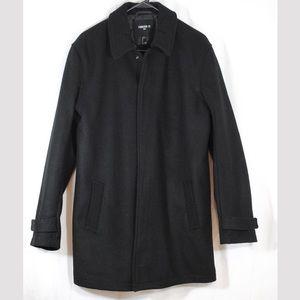 Forever 21 Men Long Coat Black S